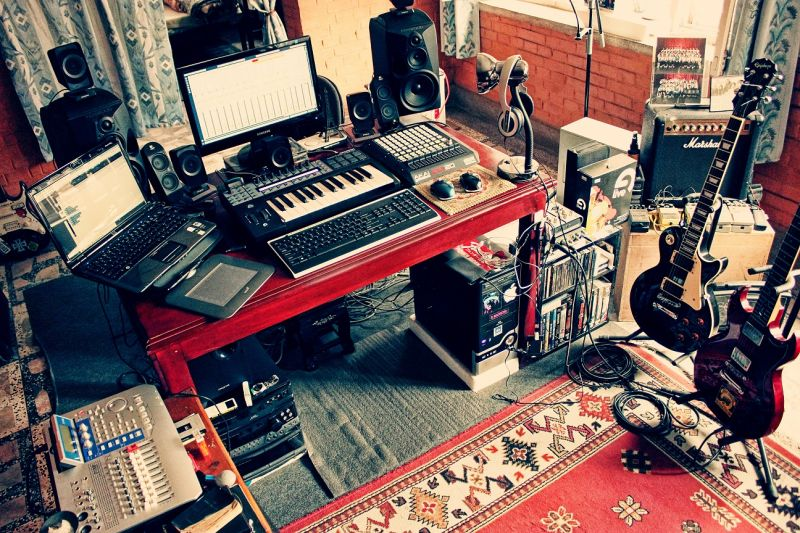 Pleasant Modest Home Recording Studio Setup Pro Stop Music Shop Largest Home Design Picture Inspirations Pitcheantrous